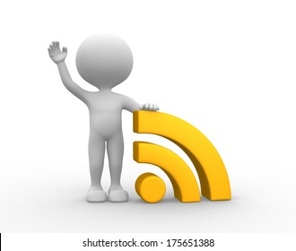 man with wireless sign