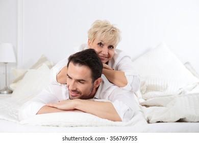 Mature couple bedroom fun