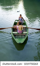 Man and woman in a boat