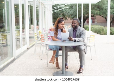 Man and Woman Business Meeting