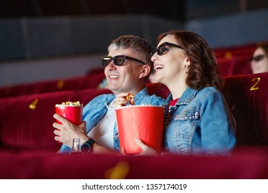 Man and woman in the cinema