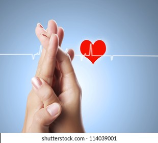 Man and woman hands isolated
