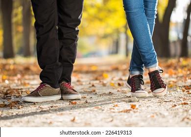 man woman leg couple  love feelings