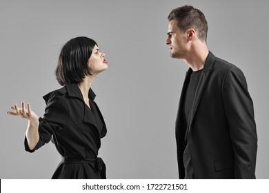 Man and woman lifestyle communication emotions romance