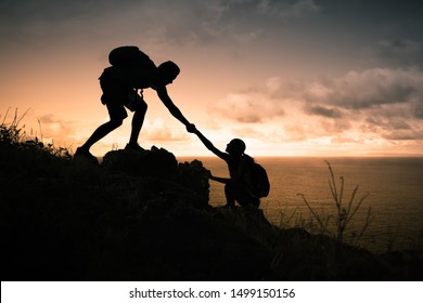helping climb mountain images stock photos vectors shutterstock