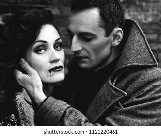 Man and woman vampires