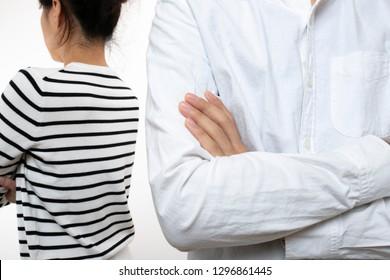 Man and woman,quarrel