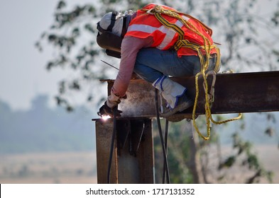 A man at work in a construction building engineering