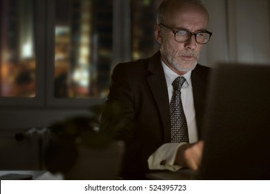 Man working in glasses