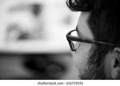 Man working with glasses