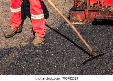 Man working on Asphalt