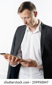 Man working with tablet