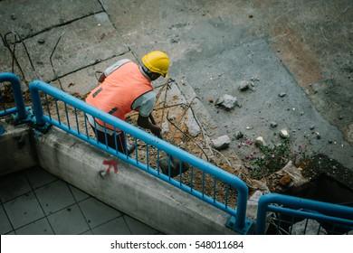 Man at works