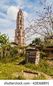 Manaca Iznaga tower in Valle de los Ingenios valley near Trinidad, Cuba. Tower was used to watch the slaves working on sugar cane plantation.