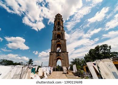 Manaca Iznaga Tower in the Valley of the Sugar Mills - Valle de los Ingenios. Trinidad, Cuba.