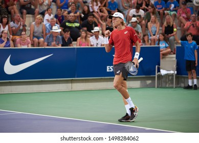 MANACOR, MALLORCA / SPAIN - 1 DE SEPTIEMBRE DE 2019: Emil Ruusuvuori (FIN) in action defeats Matteo Viola (ITA, not pictured) at the Rafa Nadal Open of Sotheby's International Realty