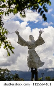 Manado, North Sulawesi, Indonesia (12/01/2012) : Jesus Christ Statue in Manado City, North Sulawesi, is the biggest Jesus Statue in Indonesia that become a famous tourist destination in Manado.