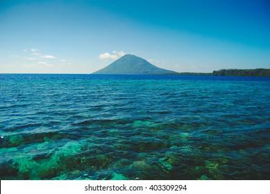 Manado Tua island near Bunaken Island in Sulawesi