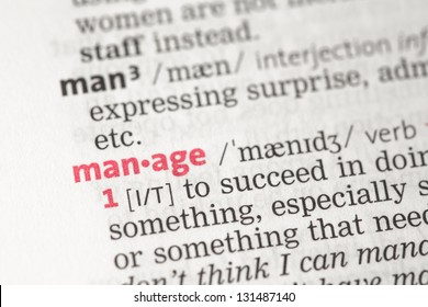 Manage definition in the dictionary