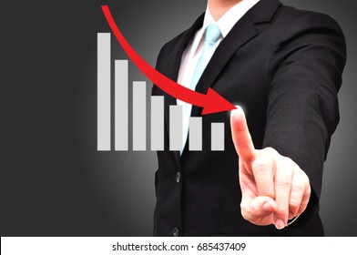 Management guys report financial revenue of company in downside trends as global crisis business background
