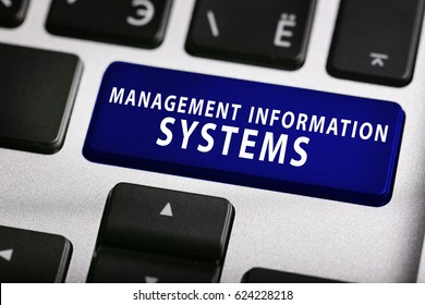 MANAGEMENT INFORMATION SYSTEMS button on keyboard, closeup