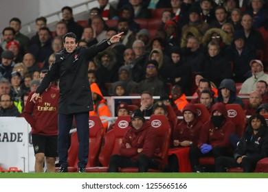 Manager of Arsenal, Unai Emery - Arsenal v Huddersfield Town, Premier League, Emirates Stadium, London (Holloway) - 8th December 2018