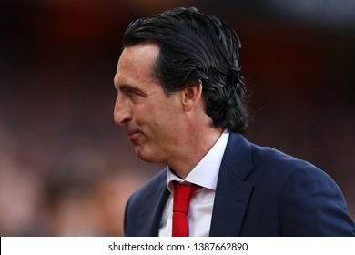 Manager of Arsenal, Unai Emery - Arsenal v Valencia, UEFA Europa League Semi Final - 1st Leg, Emirates Stadium, London (Holloway) - 2nd May 2019