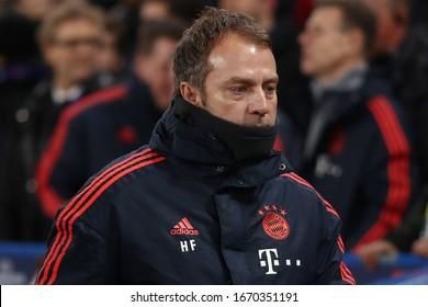 Manager of Bayern Munich, Hans-Dieter Flick - Chelsea v Bayern Munich, UEFA Champions League - Round of 16 First Leg, Stamford Bridge, London, UK - 25th February 2020