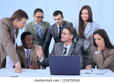 Manager and business team in office