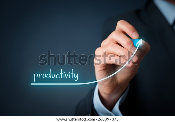 Manager (businessman, coach, leadership) plan to increase company productivity.