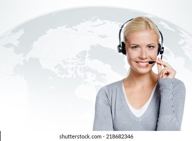 Manager of call center. concept of technology in today's business