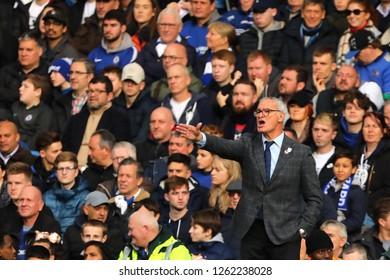 Manager of Fulham, Claudio Ranieri - Chelsea v Fulham, Premier League, Stamford Bridge, London - 2nd December 2018