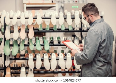 manager at a leather shoe manufacturing factory. inventory