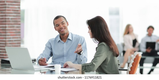Manager prepares the contract with the client