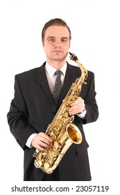manager with saxophone