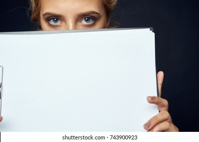 manager woman with a folder, documents, business