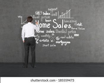 A manager writing the home sales strategy