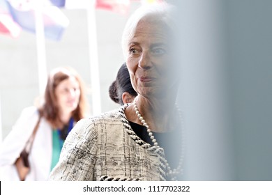 Managing Director of the IMF  Christine Lagarde  attends in Eurogroup finance ministers meeting at the EU headquarters at the Kirchberg Conference Centre in Luxembourg on Jun. 21, 2018