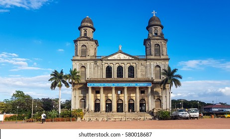 Managua, Nicaragua - December 30, 2016:  antigua catedral de managua ,Old Cathe dral of Managua that was damaged by earthquark but was constructed , located in the centre of Managua.