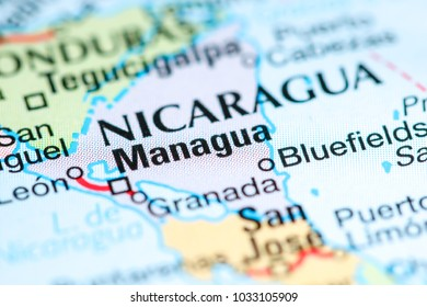 Map View Managua Nicaragua On Geographical Stock Photo (Edit Now ...