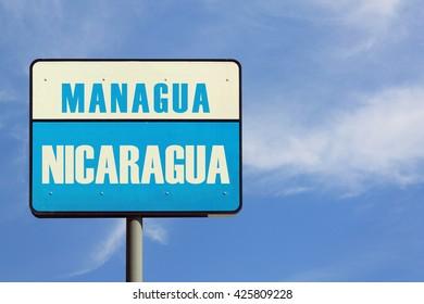 Managua Nicaragua Sign