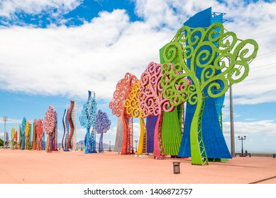 MANAGUA,NICARAGUA - MARCH 15,2019 - View at the Trees of Life in Malecon Park of Managua. Managua is capital of Nicaragua.