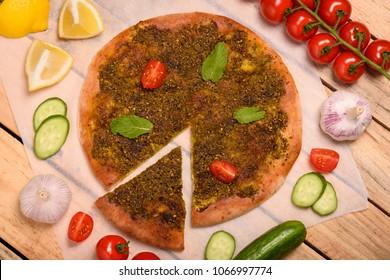 Manakish Arabian food