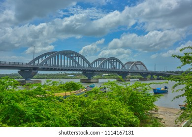 Manakudy, Kanyakumari, Tamil Nadu, India. June 06, 2018. Birdges