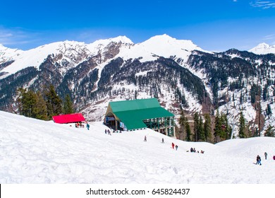 MANALI, HIMACHAL PRADESH, INDIA - March 2107: Manali a popular hill station in Himachal Pradesh, India.