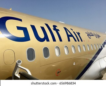 Manama, Bahrain - 10th May 2017: Gulf Air, national carrier of Kingdom of Bahrain