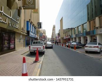 Manama, Bahrain - February 10 2019: Architecture and streets of Manama city, the capital of the Kingdom of Bahrain. Middle East