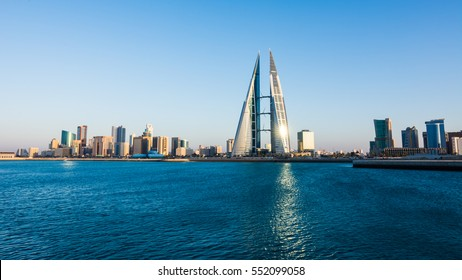 MANAMA, BAHRAIN- January 06: Manama - Bahrain World Trade Center and other high rise buildings in Manama City on January 06 , 2017, Manama, Bahrain