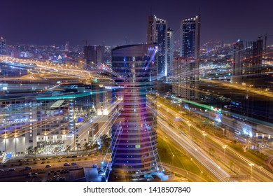 MANAMA, BAHRAIN - JUNE 07, 2019: A Beautiful view of Seef district and other high raise buildings, Manama, Bahrain