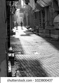 The Manama Souq begins to open for business on a warm summer morning. Manama, Bahrain June 1, 2017.